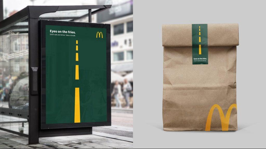 """""""Mantén los ojos en las patatas fritas"""": McDonalds firma una campaña genial de seguridad vial"""